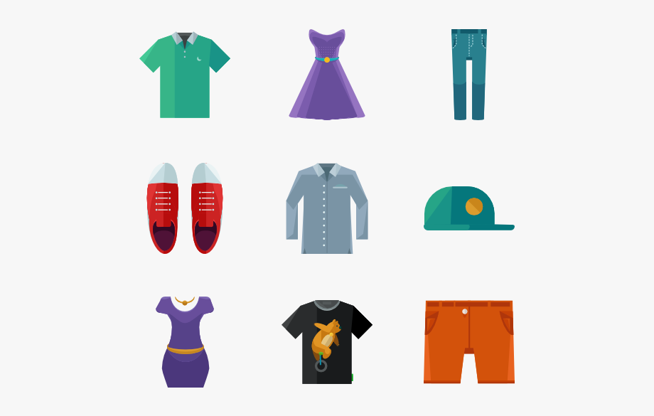 Clothes Icon Packs Vector Svg Psd.