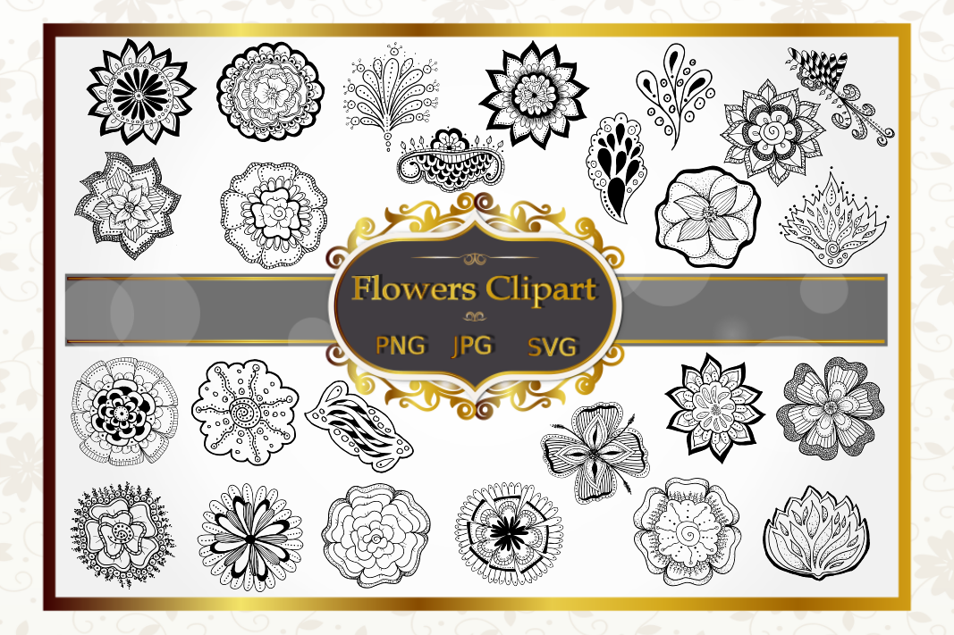 Flower Vector Clipart Collection.