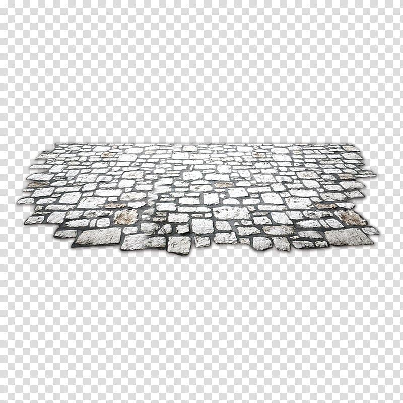 Concrete pavement illustration, Street Pavement , Stone.