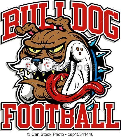 crazy bulldog football design.