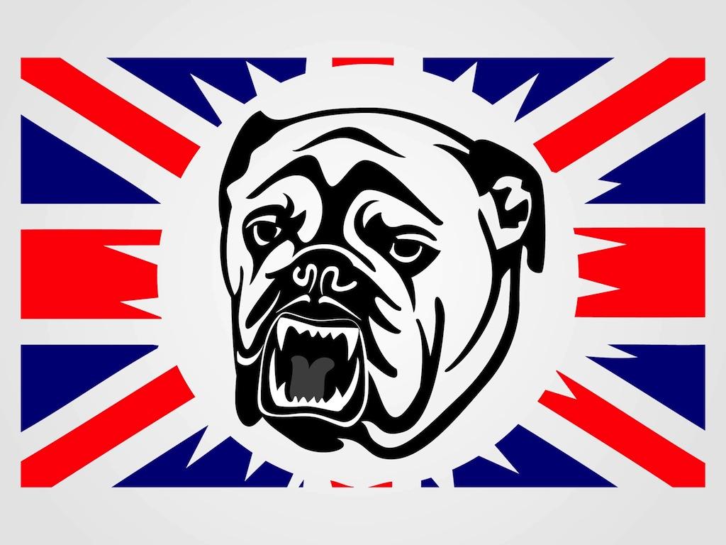 Uk Bulldog Vector Vector Art & Graphics.