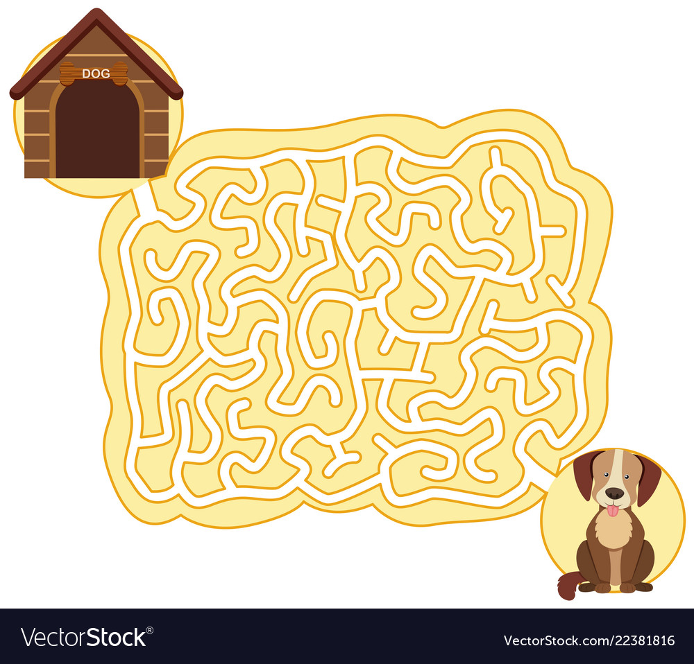 Dog maze puzzle game template.