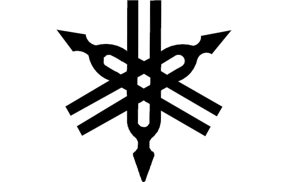 Yamaha Logo Vector dxf File Free Download.