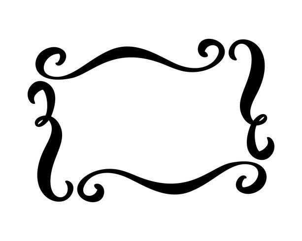 Flourish Vintage vector frame.