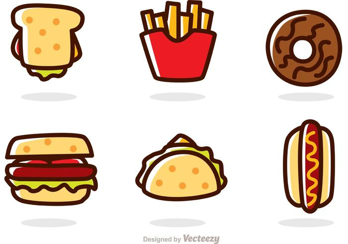 Cartoon Fast Food Vectors.