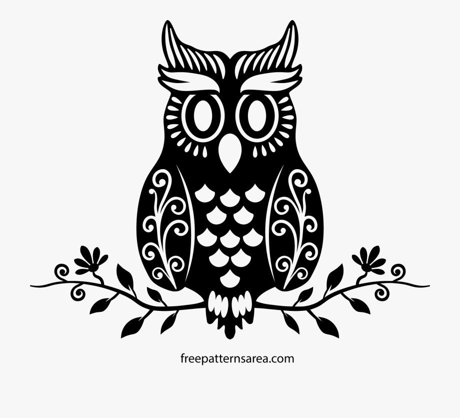 Clipart Free Download Owl On A Branch Clipart Black.