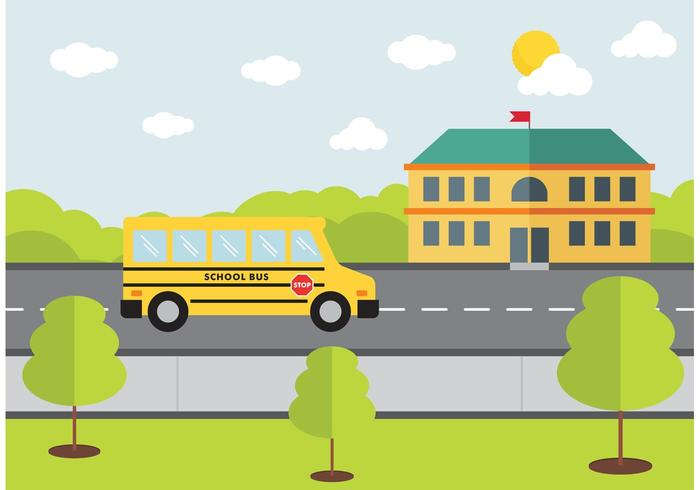 School Bus Design Vector.