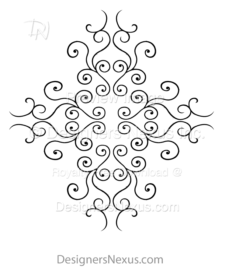 Vector Stencil Clipart: Ornament 024.