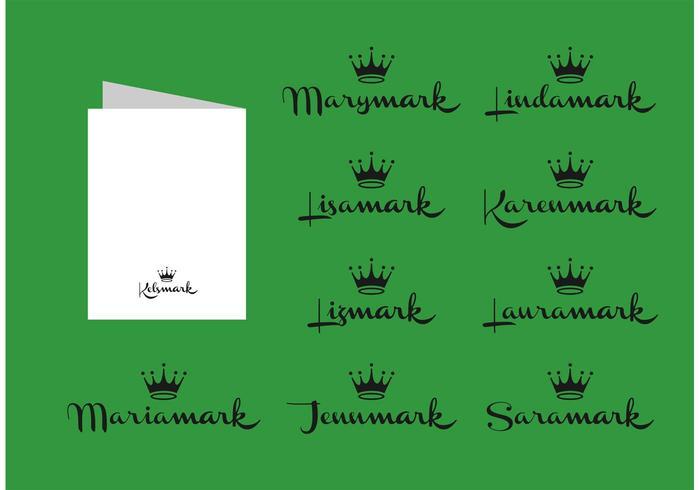 Free Vector Hallmark Card Names.