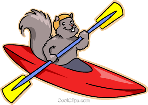 kayak Royalty Free Vector Clip Art illustration.