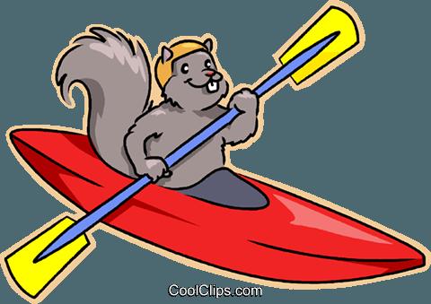 kayak Royalty Free Vector Clip Art illustration.