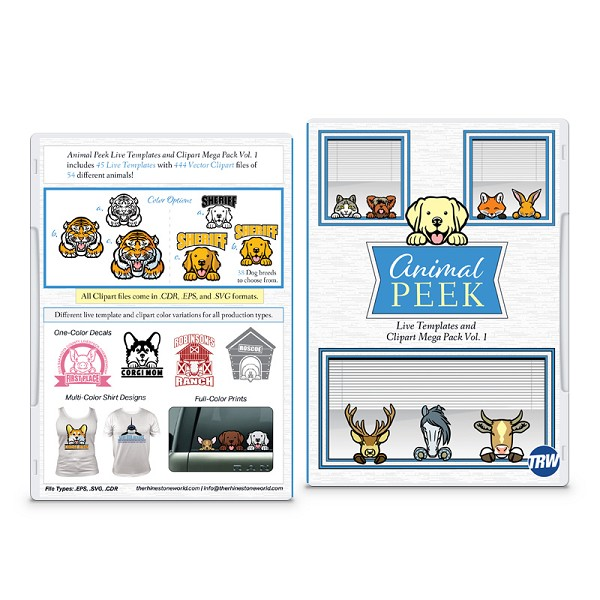 Animal Peek Live Template and Clipart Mega Pack Vol. 1.