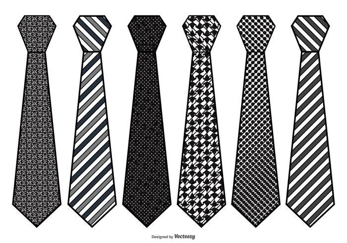 Mens Vector Tie Set.