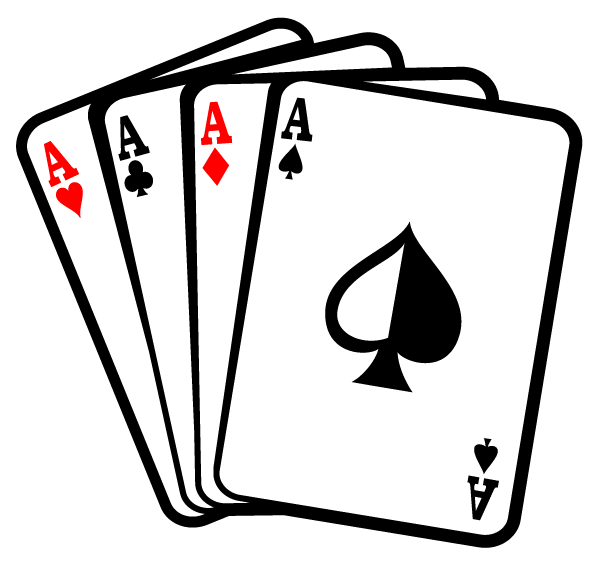 Aces Poker Playing Cards Vector Free.