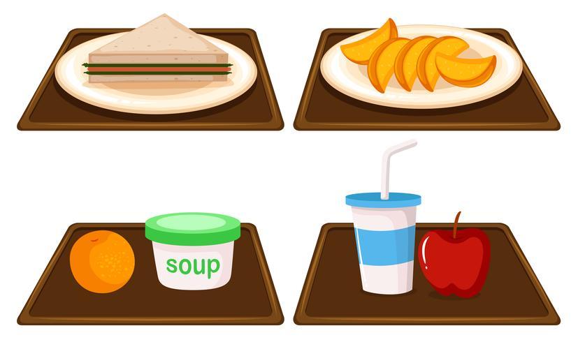 Set of breakfast meal.