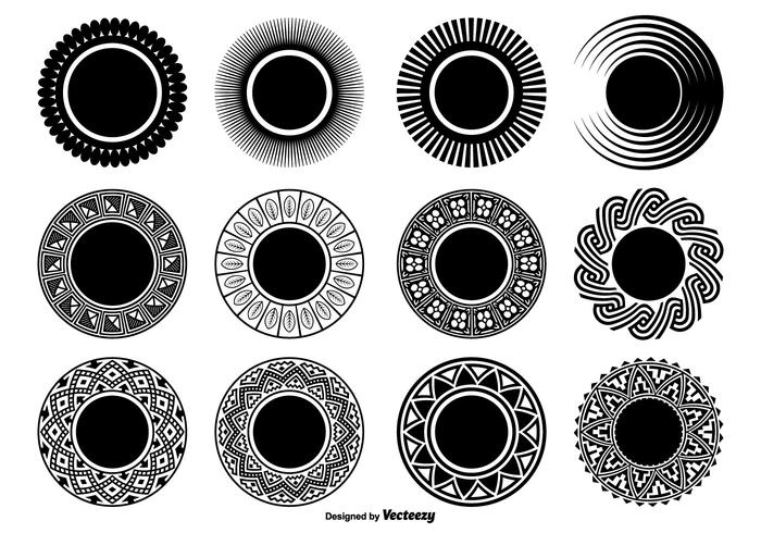 Decorative Circle Shapes.