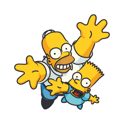 The Simpsons Homer vector download.