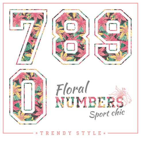 Vector floral numbers for t.