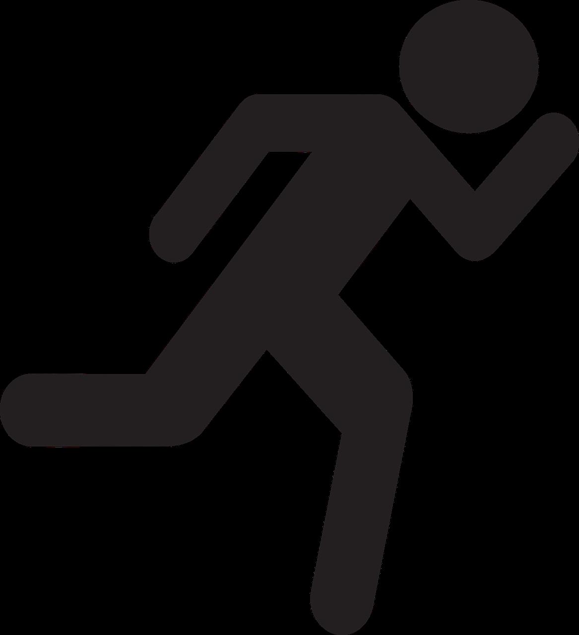 Stick figure Stick Man Running Clip art.