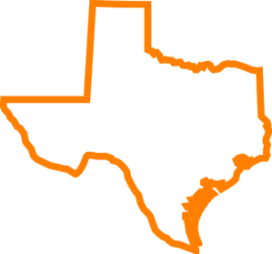 Texas orange clip art at clker vector clip art.