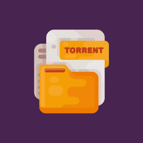 Torrent File Vector.