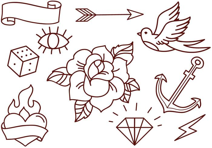 Free Old School Tattoos Vectors.