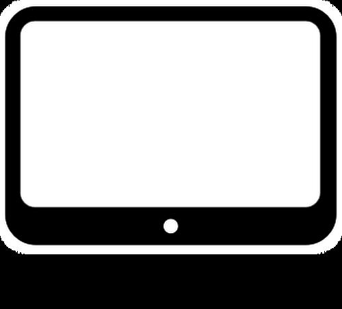 Small computer monitor vector clip art.