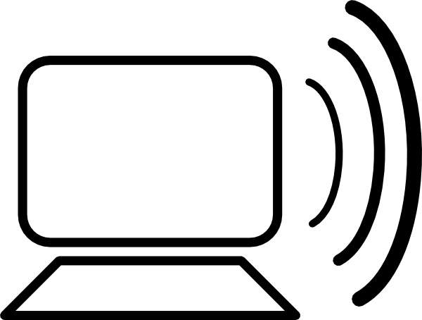 Computer Wireless Signal clip art Free vector in Open office.