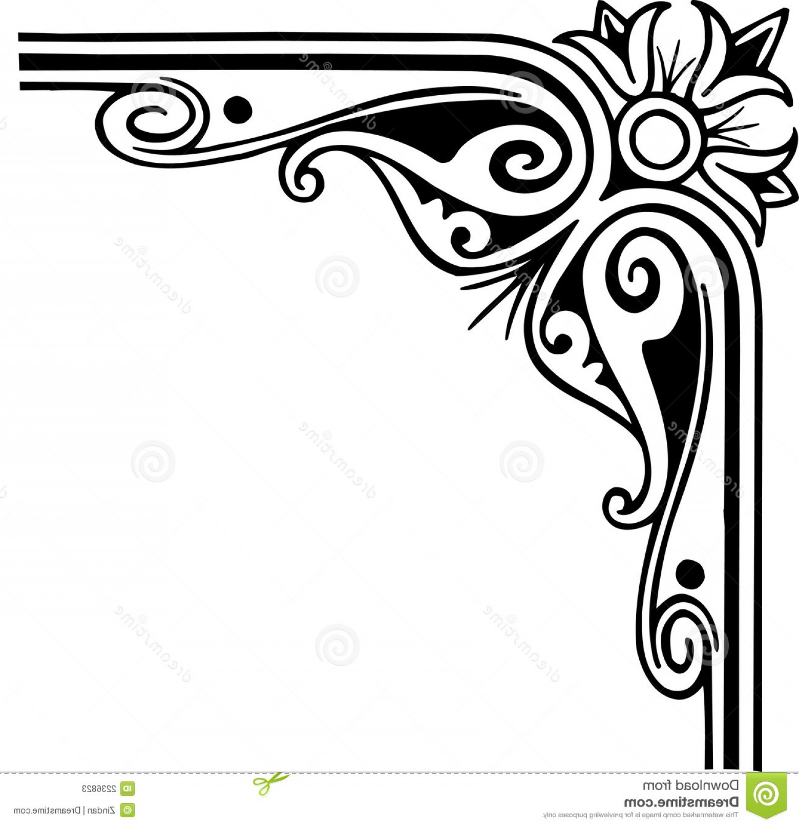 Corner Border Designs For Projects Clipart.