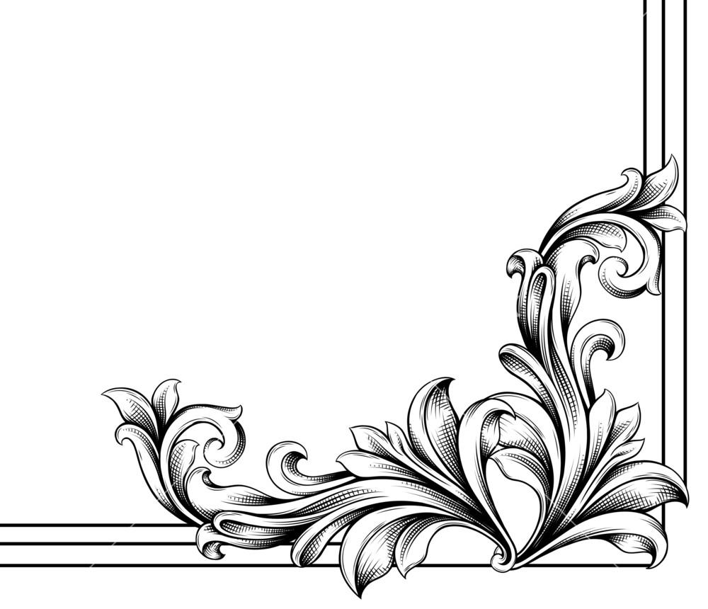 Floral Vector Corner.