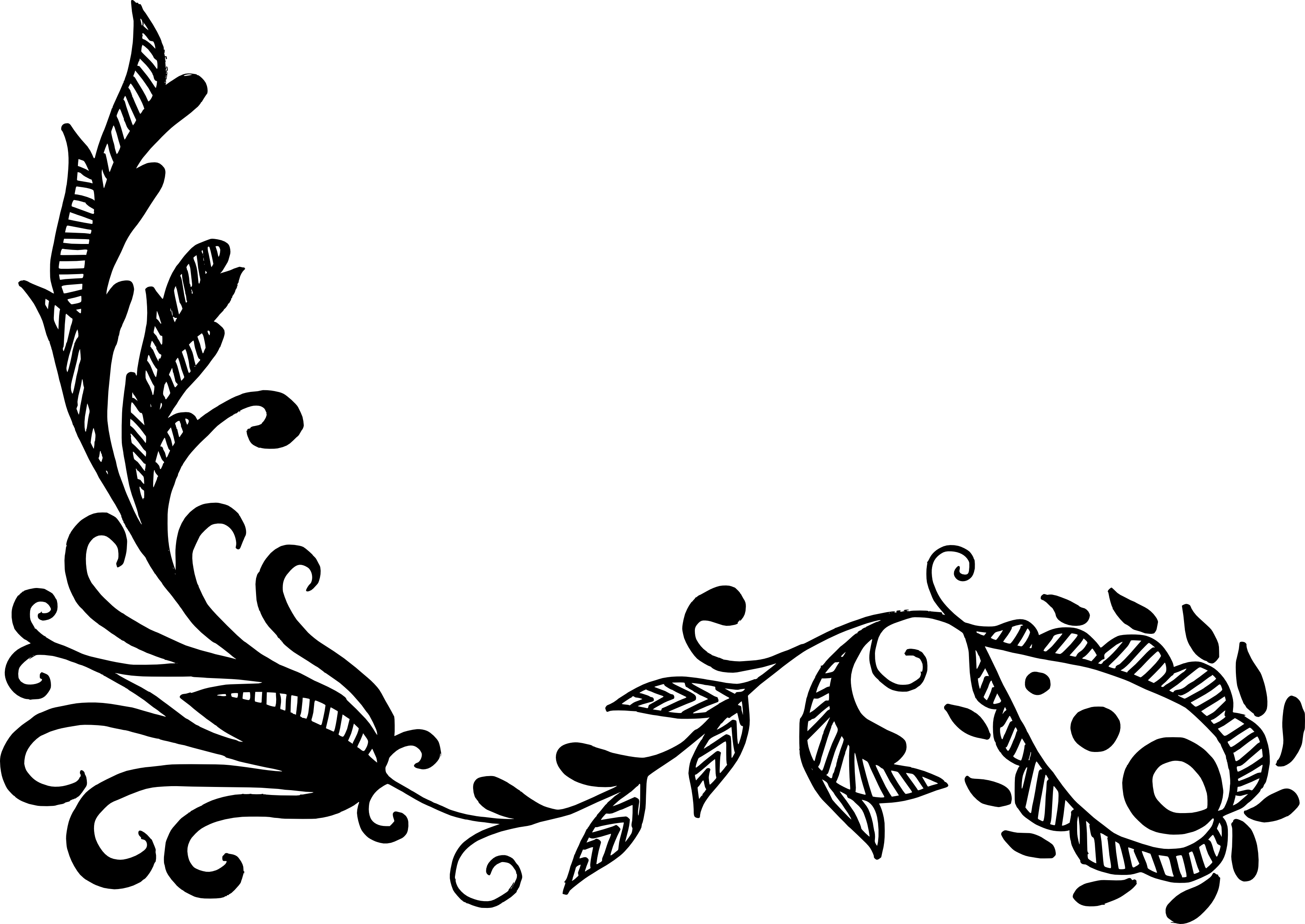 16 Flower Corner Vector (PNG Transparent, SVG) Vol. 2.