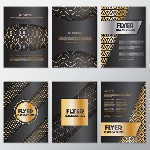 Gold banner background flyer style Design Template.