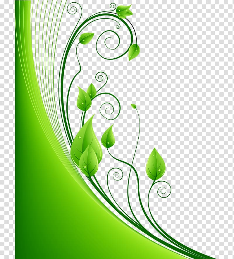 Green leafed plant illustration, Green Leaf Euclidean.