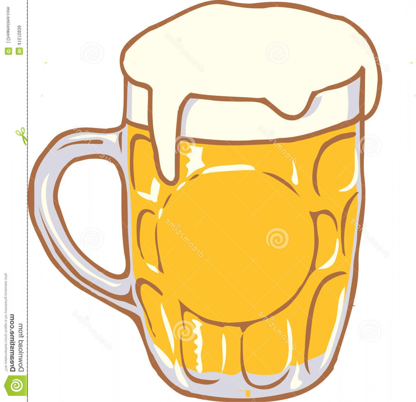 Stock Illustration Beer Mug Vector Design Clipart Created.