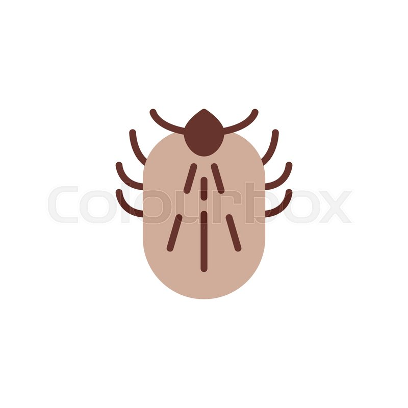 Mite insect flat icon, vector sign,.