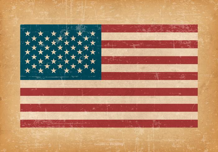 American Flag Free Vector Art.