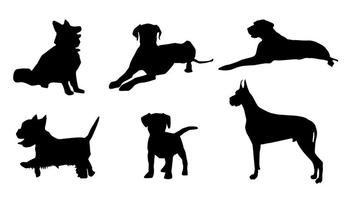Vector Dog Silhouette.
