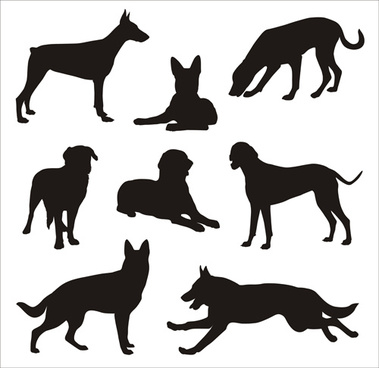 Vector dog silhouettes free vector download (6,388 Free.