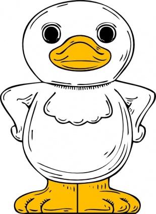Duck clip art vector duck graphics image.