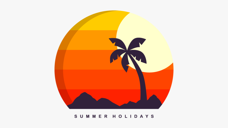Summer Holiday Island Travel Background Vector Eps.