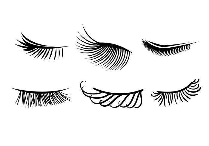 Eyelashes Clipart Set.