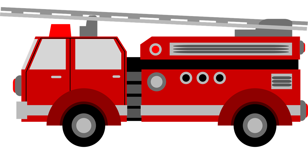 Car Fire engine Vector graphics Clip art Image.