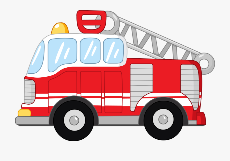 Cartoon Fire Engine Clip Art Cute Vector.