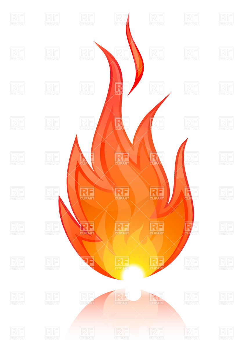 Vector Flame Clipart.