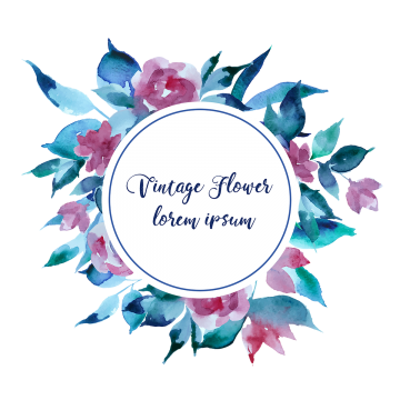 Vintage Flowers Png, Vector, PSD, and Clipart With.
