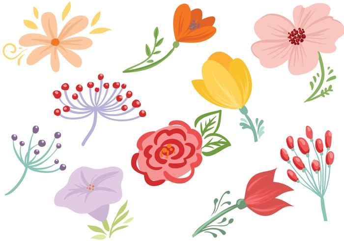 Free Flowers Vectors.