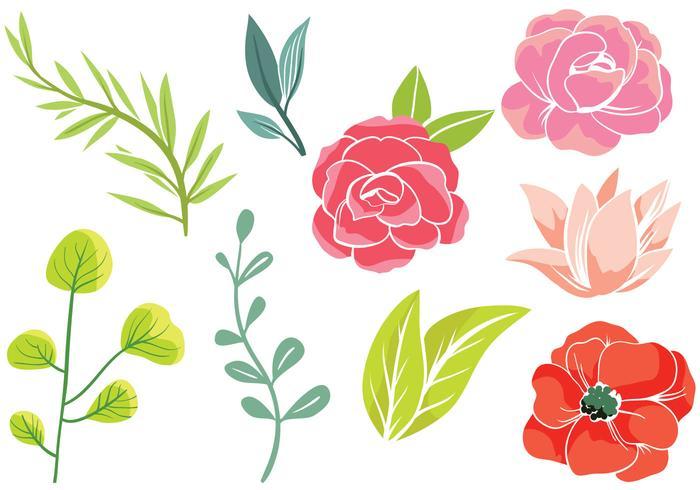 Simple Flowers 2 Vectors.