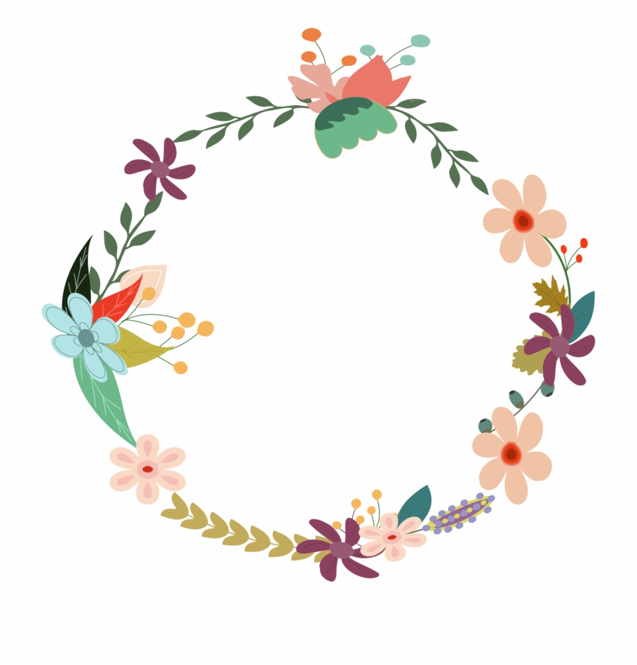 Vintage Floral Wreath By.