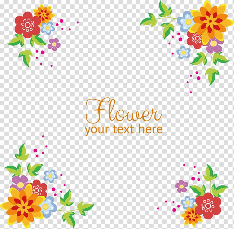 Multicolored petaled flowers , flowers background border.