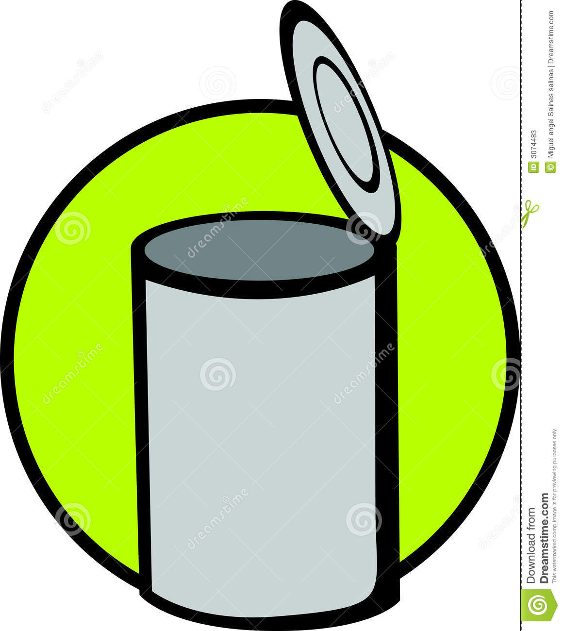 Vector Canned Food Clipart.